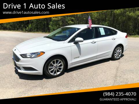 2017 Ford Fusion Hybrid for sale at Drive 1 Auto Sales in Wake Forest NC