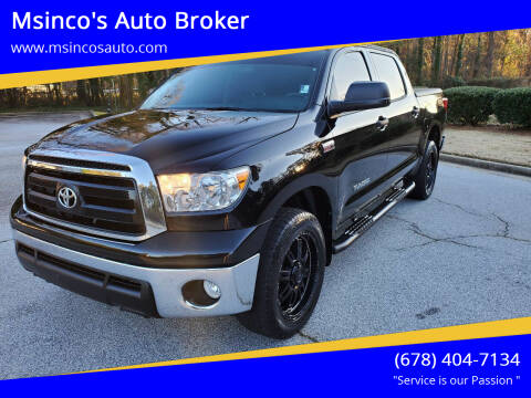 2013 Toyota Tundra for sale at Msinco's Auto Broker in Snellville GA