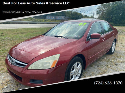 2005 Honda Accord for sale at Best For Less Auto Sales & Service LLC in Dunbar PA