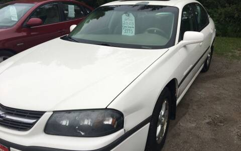 2003 Chevrolet Impala for sale at BARNES AUTO SALES in Mandan ND