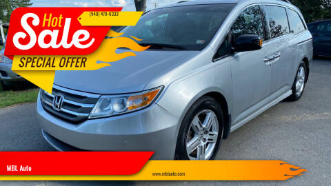 2012 Honda Odyssey for sale at MBL Auto Woodford in Woodford VA