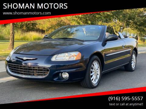 2002 Chrysler Sebring for sale at SHOMAN MOTORS in Davis CA
