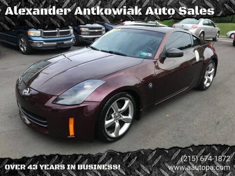 2006 Nissan 350Z for sale at Alexander Antkowiak Auto Sales in Hatboro PA