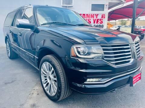 2015 Lincoln Navigator L for sale at Manny G Motors in San Antonio TX