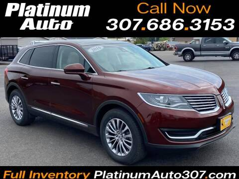 2016 Lincoln MKX for sale at Platinum Auto in Gillette WY