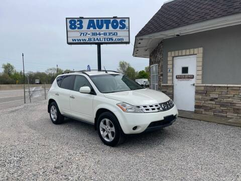 2005 Nissan Murano for sale at 83 Autos in York PA