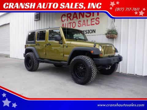 2007 Jeep Wrangler Unlimited for sale at CRANSH AUTO SALES, INC in Arlington TX