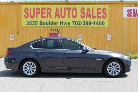 2015 BMW 5 Series for sale at Super Auto Sales in Las Vegas NV