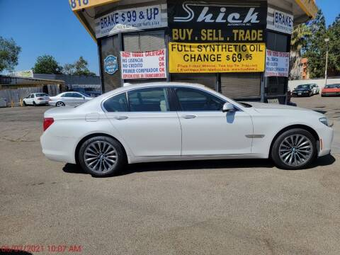 2012 BMW 7 Series for sale at Shick Automotive Inc in North Hills CA