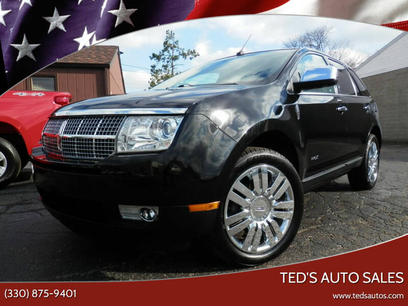 2010 Lincoln MKX for sale at Ted's Auto Sales in Louisville OH