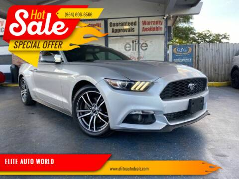 2017 Ford Mustang for sale at ELITE AUTO WORLD in Fort Lauderdale FL