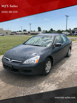 2006 Honda Accord for sale at MJ'S Sales in Foristell MO