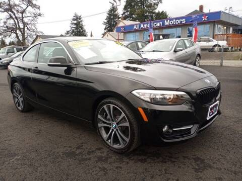2017 BMW 2 Series for sale at All American Motors in Tacoma WA