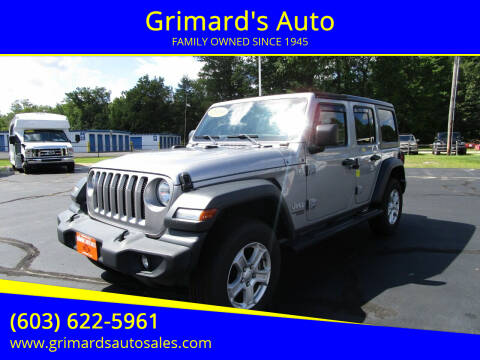 2019 Jeep Wrangler Unlimited for sale at Grimard's Auto in Hooksett NH