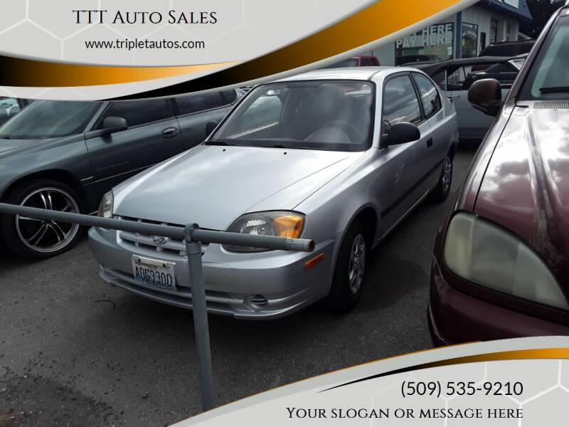 2003 Hyundai Accent for sale at TTT Auto Sales in Spokane WA