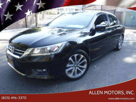 2014 Honda Accord for sale at Allen Motors, Inc. in Thousand Oaks CA