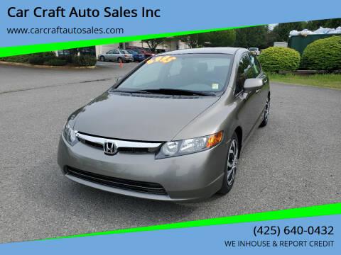 2006 Honda Civic for sale at Car Craft Auto Sales Inc in Lynnwood WA