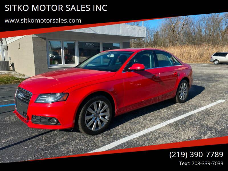 2010 Audi A4 for sale at SITKO MOTOR SALES INC in Cedar Lake IN