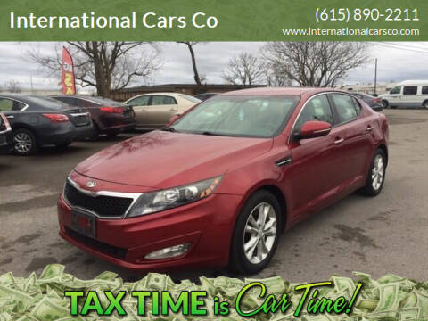 2013 Kia Optima for sale at International Cars Co in Murfreesboro TN