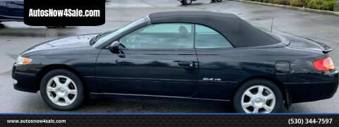 2002 Toyota Camry Solara for sale at AUCTION SERVICES OF CALIFORNIA in El Dorado CA