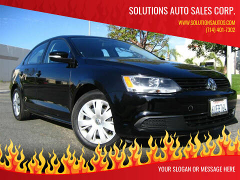 2012 Volkswagen Jetta for sale at Solutions Auto Sales Corp. in Orange CA