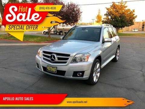2010 Mercedes-Benz GLK for sale at APOLLO AUTO SALES in Sacramento CA