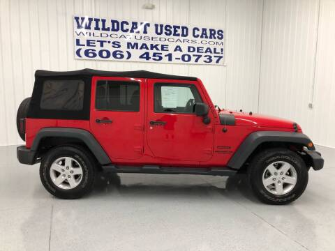 2015 Jeep Wrangler Unlimited for sale at Wildcat Used Cars in Somerset KY