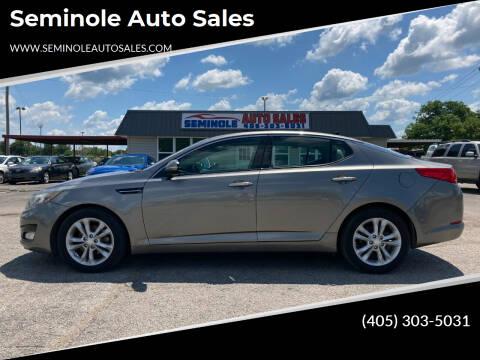 2013 Kia Optima for sale at Seminole Auto Sales in Seminole OK