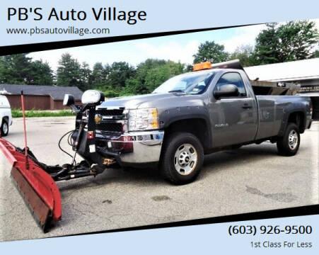 2013 Chevrolet Silverado 2500HD for sale at PB'S Auto Village in Hampton Falls NH