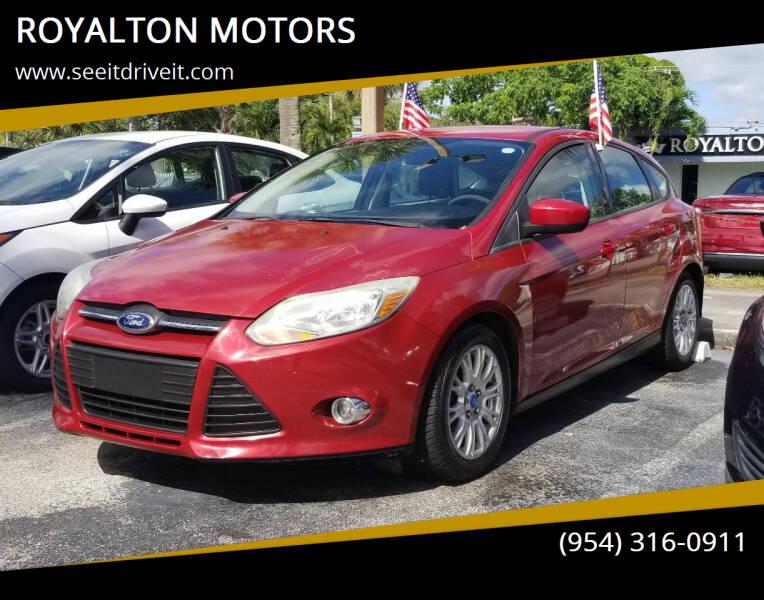 2012 Ford Focus for sale at ROYALTON MOTORS in Plantation FL