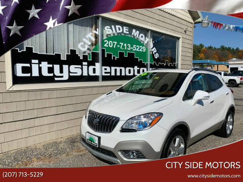 2015 Buick Encore for sale at CITY SIDE MOTORS in Auburn ME