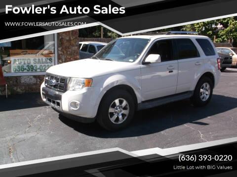 2011 Ford Escape for sale at Fowler's Auto Sales in Pacific MO