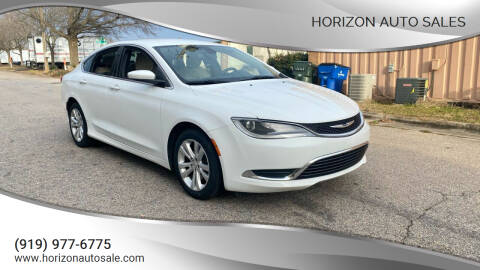 2015 Chrysler 200 for sale at Horizon Auto Sales in Raleigh NC