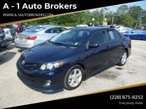 2013 Toyota Corolla for sale at A - 1 Auto Brokers in Ocean Springs MS