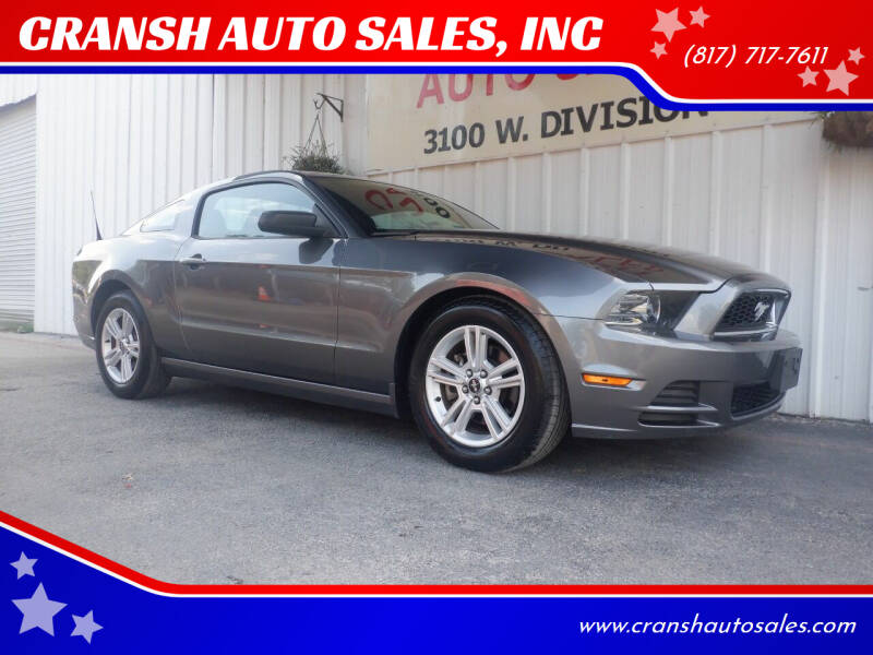 2014 Ford Mustang for sale at CRANSH AUTO SALES, INC in Arlington TX