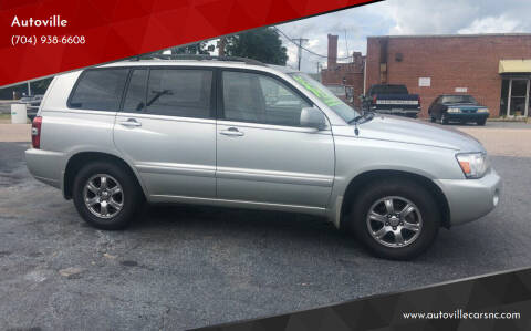 2005 Toyota Highlander for sale at Autoville in Kannapolis NC