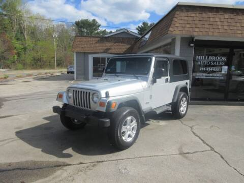 2004 Jeep Wrangler for sale at Millbrook Auto Sales in Duxbury MA