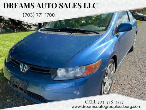 2006 Honda Civic for sale at Dreams Auto Sales LLC in Leesburg VA