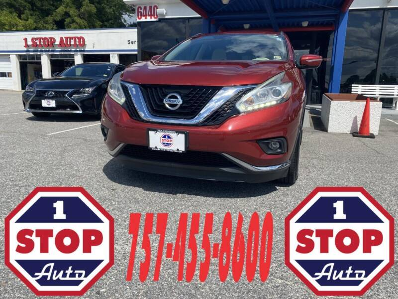 2015 Nissan Murano for sale at 1 Stop Auto in Norfolk VA