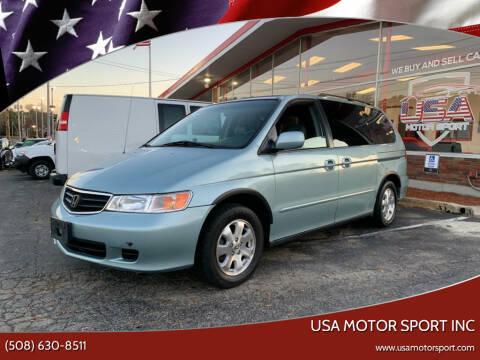 2003 Honda Odyssey for sale at USA Motor Sport inc in Marlborough MA