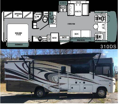2015 Forest River Georgetown 310DS for sale at S & M WHEELESTATE SALES INC - Class A in Princeton NC