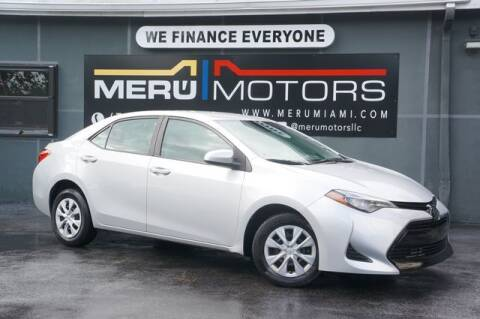 2019 Toyota Corolla for sale at Meru Motors in Hollywood FL