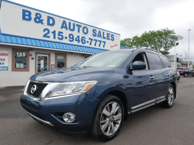2013 Nissan Pathfinder for sale at B & D Auto Sales Inc. in Fairless Hills PA