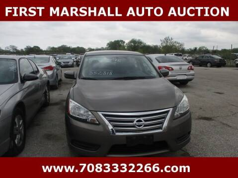 2015 Nissan Sentra for sale at First Marshall Auto Auction in Harvey IL