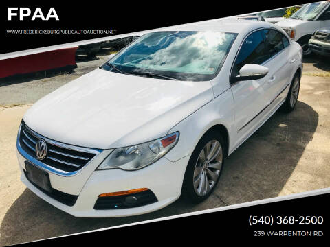 2010 Volkswagen CC for sale at FPAA in Fredericksburg VA