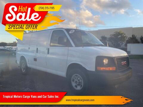 2008 GMC Savana Cargo for sale at Tropical Motors Cargo Vans and Car Sales Inc. in Pompano Beach FL