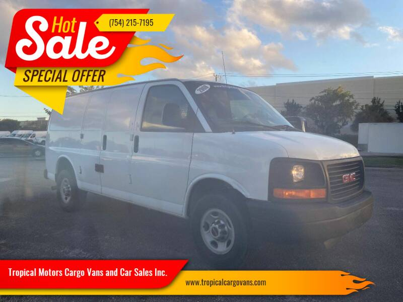 2008 GMC Savana Cargo for sale at Tropical Motors Cargo Vans and Car Sales Inc. in Pompano Beach FL