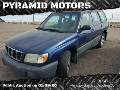 2001 Subaru Forester for sale at PYRAMID MOTORS - Pueblo Lot in Pueblo CO
