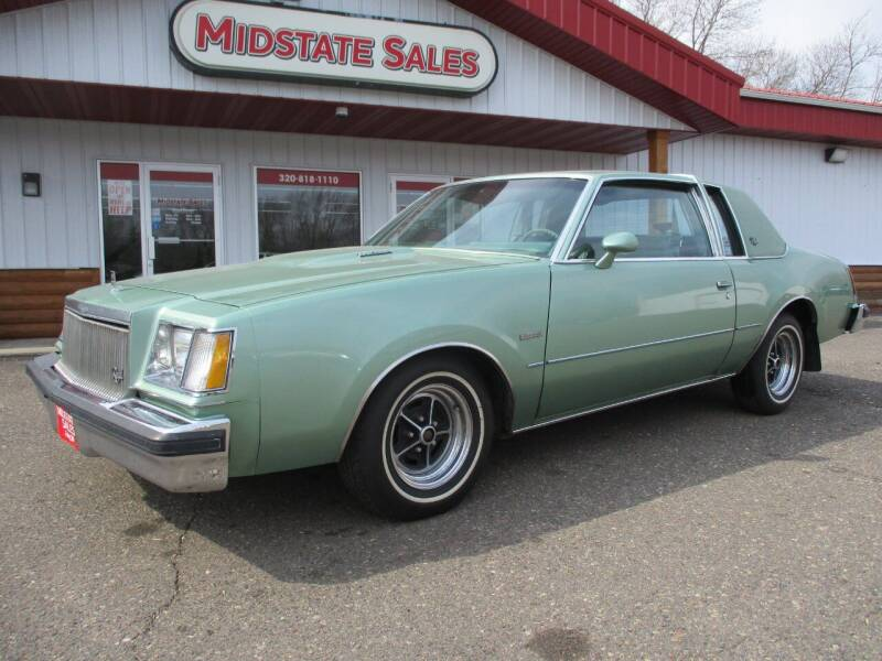 1978 Buick Regal for sale at Midstate Sales in Foley MN