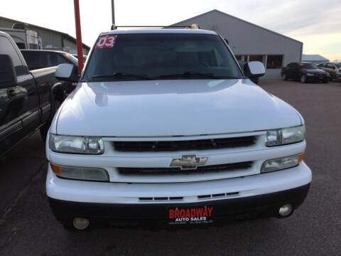 2003 Chevrolet Tahoe for sale at Broadway Auto Sales in South Sioux City NE
